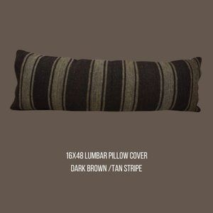 Turkish Kilim Pillow 16 x48 Cover Only